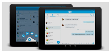 Skype Material Design Tablet